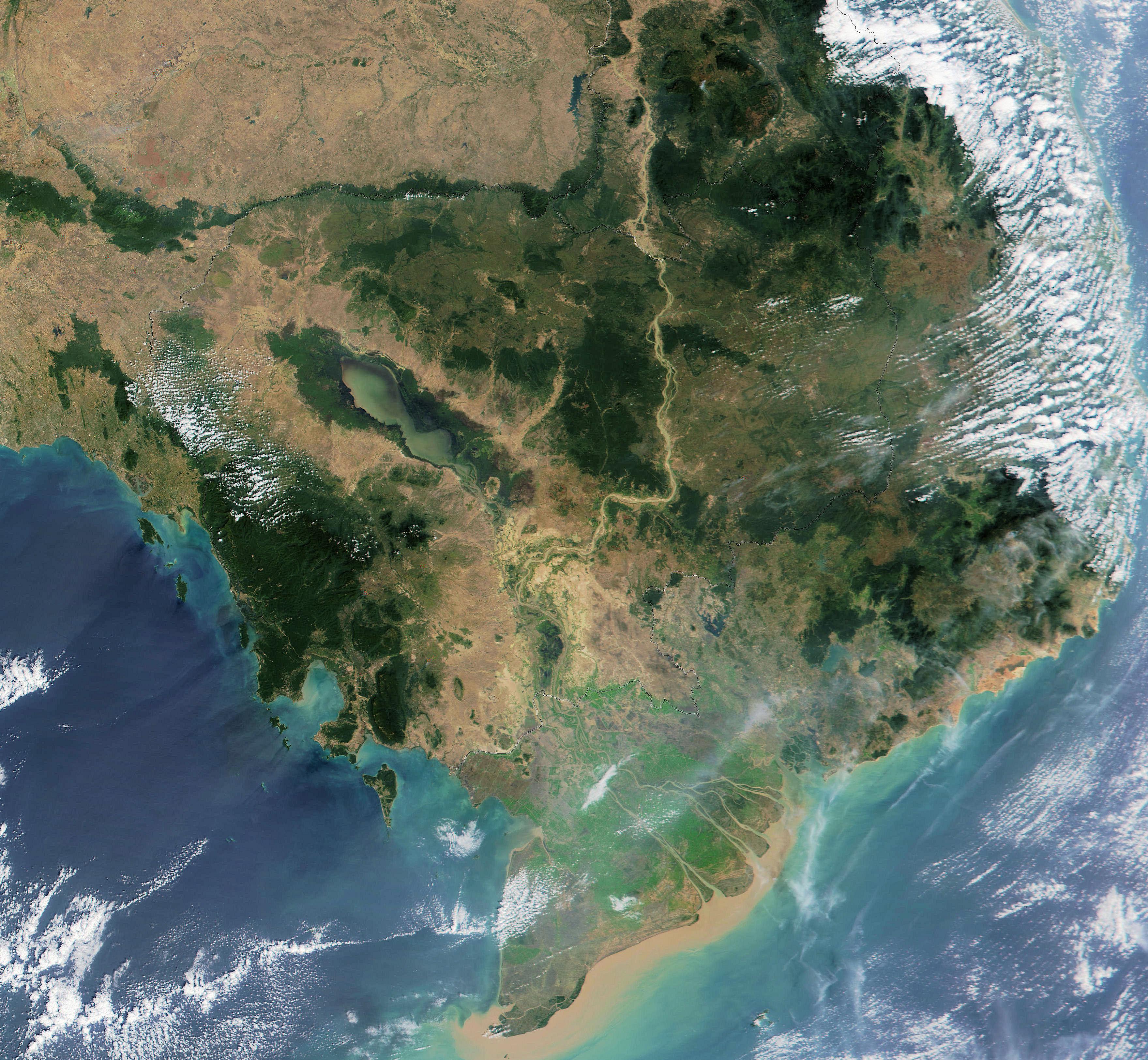 Kambodza Satelliitti Kartta Kartta Kambodza Satelliitti